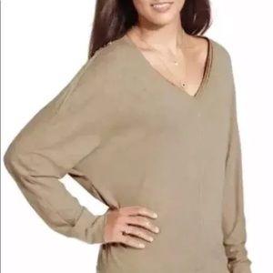 Rachel Roy SLOUCHY ZIPPERS DOLMAN CHINO TOP size S